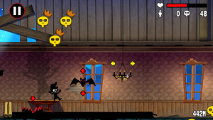 A screenshot from the new IOS version of the 80's classic: Haunted House